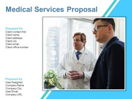 Medical Services Proposal Powerpoint Presentation Slides