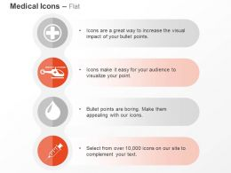 Medical Sign Chopper Blood Drop Syringe Ppt Icons Graphics