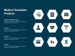 Medical Simulation Products Ppt Powerpoint Presentation Slides Gallery