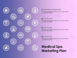 Medical Spa Marketing Plan Ppt Powerpoint Presentation Icon Microsoft