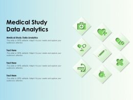 Medical Study Data Analytics Ppt Powerpoint Presentation Infographic Template Model