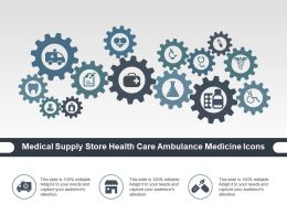 Medical Supply Store Health Care Ambulance Medicine Icons