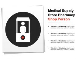 Medical Supply Store Pharmacy Shop Person
