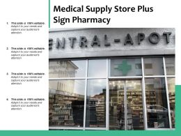 Medical Supply Store Plus Sign Pharmacy