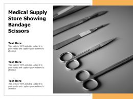 Medical Supply Store Showing Bandage Scissors