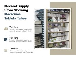 Medical Supply Store Showing Medicines Tablets Tubes