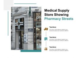 Medical Supply Store Showing Pharmacy Streets