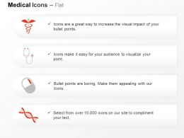Medical Symbol Stethoscope Pill Dna Design Ppt Icons Graphics