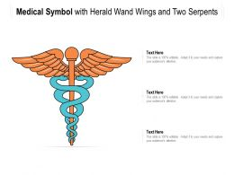 Medical Symbol With Herald Wand Wings And Two Serpents