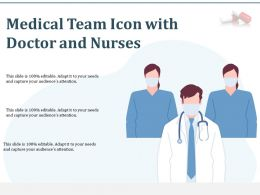 Medical Team Icon With Doctor And Nurses
