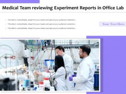Medical Team Reviewing Experiment Reports In Office Lab