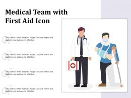 Medical Team With First Aid Icon