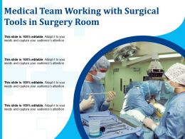Medical Team Working With Surgical Tools In Surgery Room