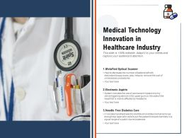 Medical Technology Innovation In Healthcare Industry