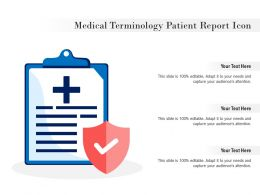 Medical Terminology Patient Report Icon