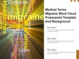 Medical Terms Migraine Word Cloud Powerpoint Template And Background