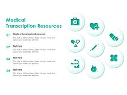 Medical Transcription Resources Ppt Powerpoint Presentation Model Show