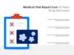 Medical Trial Report Icon For New Drug Discovery