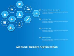 Medical Website Optimization Ppt Powerpoint Presentation File Slide Portrait