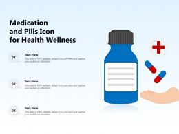 Medication And Pills Icon For Health Wellness