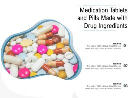 Medication Tablets And Pills Made With Drug Ingredients