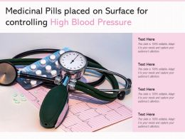Medicinal Pills Placed On Surface For Controlling High Blood Pressure