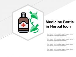 Medicine Bottle In Herbal Icon