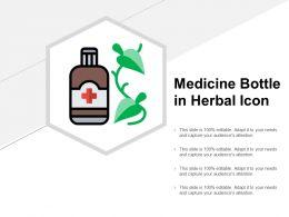 Medicine Bottle In Herbal Icon