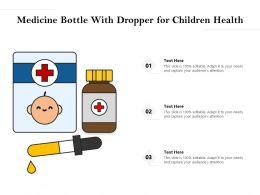 Medicine Bottle With Dropper For Children Health