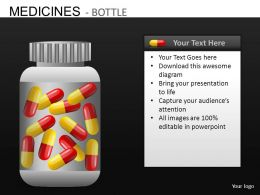 Medicine Bottles Powerpoint Presentation Slides DB