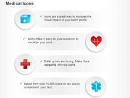 Medicine Box Red Heart Medical Symbol Ppt Icons Graphics