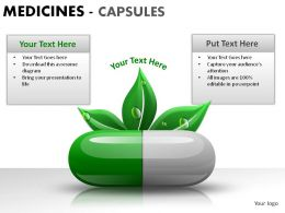 Medicine Capsules Powerpoint Presentation Slides