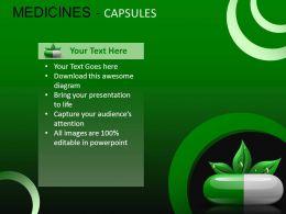 Medicine Capsules Powerpoint Presentation Slides DB