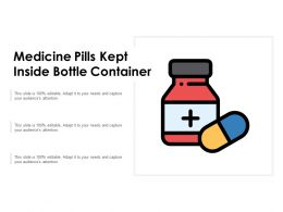 Medicine Pills Kept Inside Bottle Container
