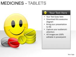Medicine Tablets Powerpoint Presentation Slides