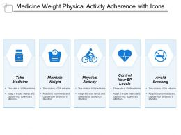 Medicine Weight Physical Activity Adherence With Icons