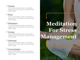 Meditation For Stress Management Ppt Ideas