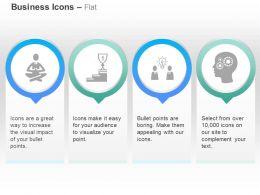 Meditation Success Path Sharing Process Control Ppt Icons Graphics