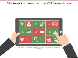 Medium Of Communication Ppt Presentation