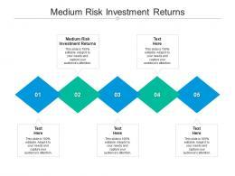 Medium Risk Investment Returns Ppt Powerpoint Presentation Gallery Templates Cpb