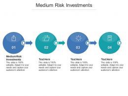Medium Risk Investments Ppt Powerpoint Presentation Ideas Sample Cpb