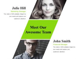 Meet Our Awesome Team Ppt Images Gallery Template 2