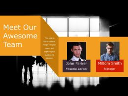 Meet Our Awesome Team Ppt Infographics