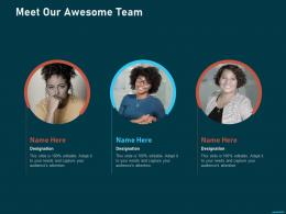 Meet Our Awesome Team Puppet Solution For Configuration Management Ppt Microsoft