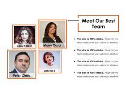 Meet Our Best Team Powerpoint Slide Designs Download