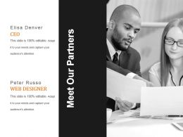 Meet Our Partners Powerpoint Slide Design Ideas