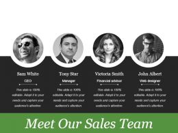Meet Our Sales Team Powerpoint Slide Backgrounds