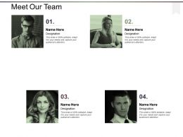 Meet Our Team And Communication Ppt Powerpoint Presentation File Deck