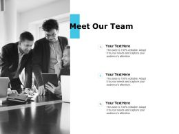 Meet Our Team Audience Attention E145 Ppt Powerpoint Presentation Slides Layouts