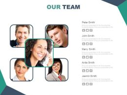 Meet Our Team Business Peoples Slide Powerpoint Slides